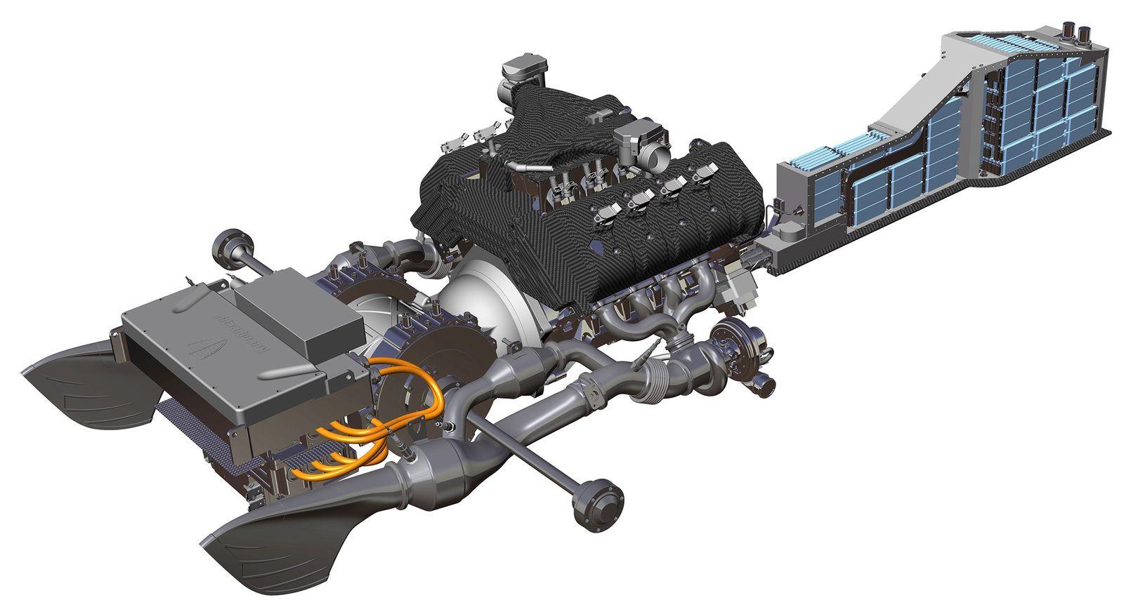The Koenigsegg Regera has 1500 hp and no gearbox