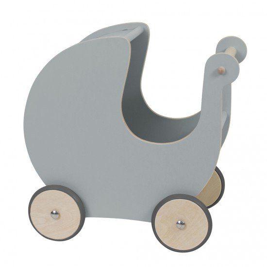 Sebra - Houten poppenwagen - grijs