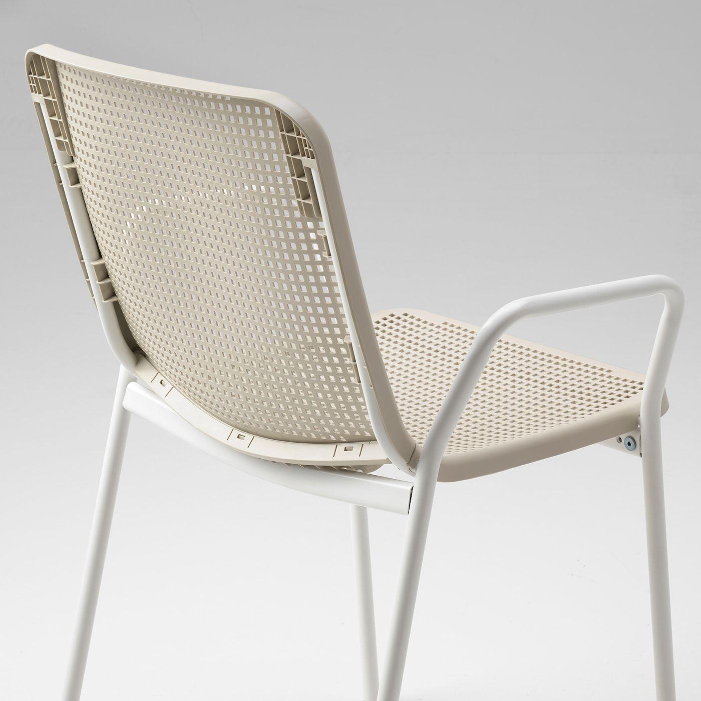 Torparo Armchair In Outdoor White Beige In 2020 Ikea