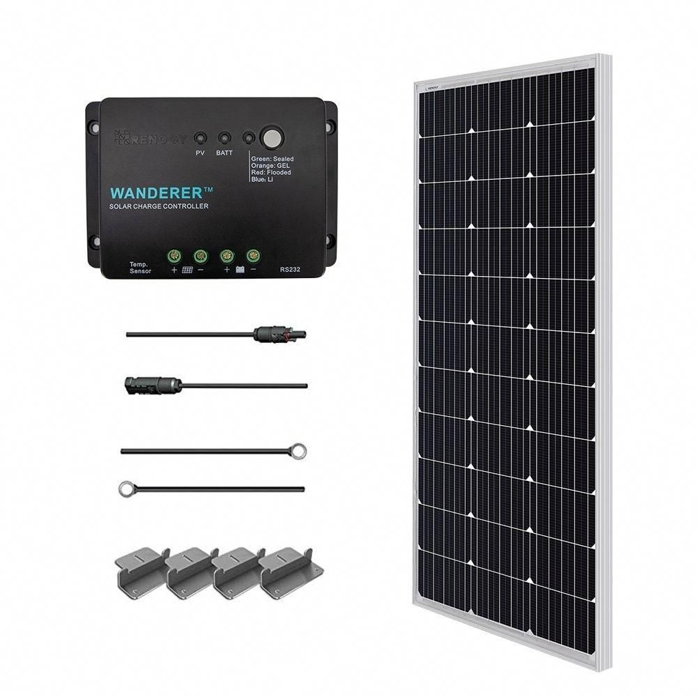 Petite Renogy 100 Watt 12 Volt Monocrystalline Solar Starter Kit Black Solar Panel Solarpanels In 2020 Off Grid Solar Solar Panel Kits Monocrystalline Solar Panels