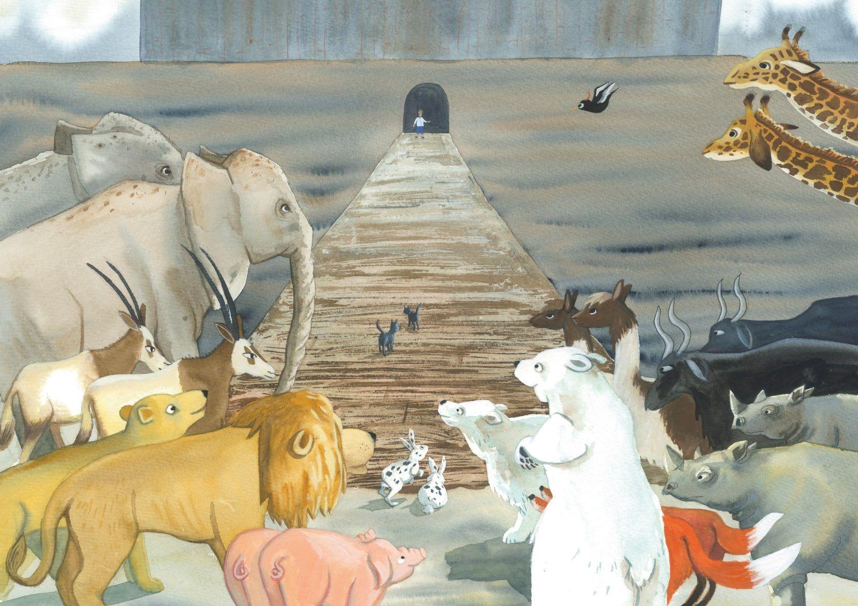 Ah!  Que historia tan maravilosa la de Noê.  La puedes buscar en el libro de Genesis.