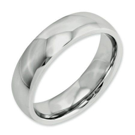 Best Quality Free Gift Box Cobalt Satin And Polished Grooved 6mm Band