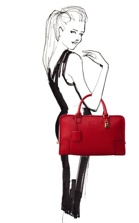 Amazing Loewe bag - love the red