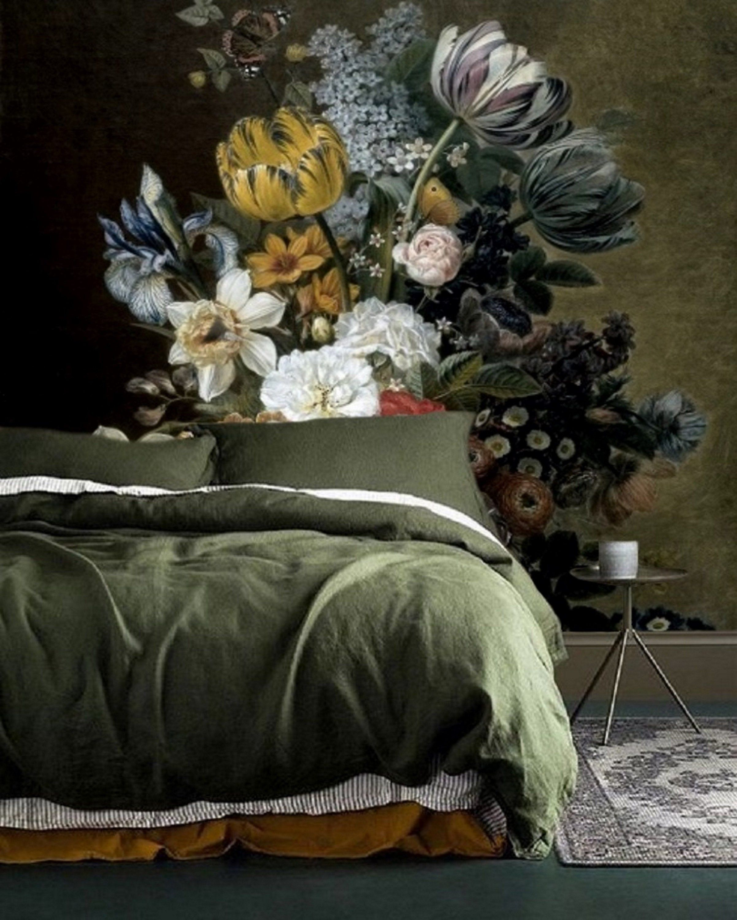 Removable Wallpaper Floral Wall Mural Peel and Stick