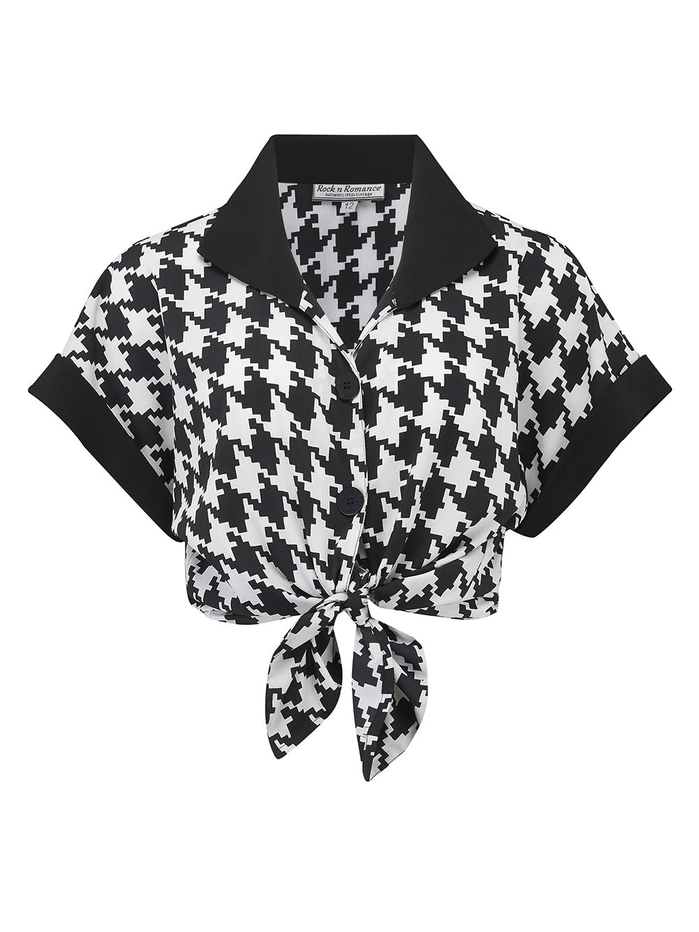 3ec205fee963a9 Tie it up OR Tuck it in ? You choose .. create your own unique classic vintage  style, Sassy black and white hounds tooth just perfect .. from day to night  ...