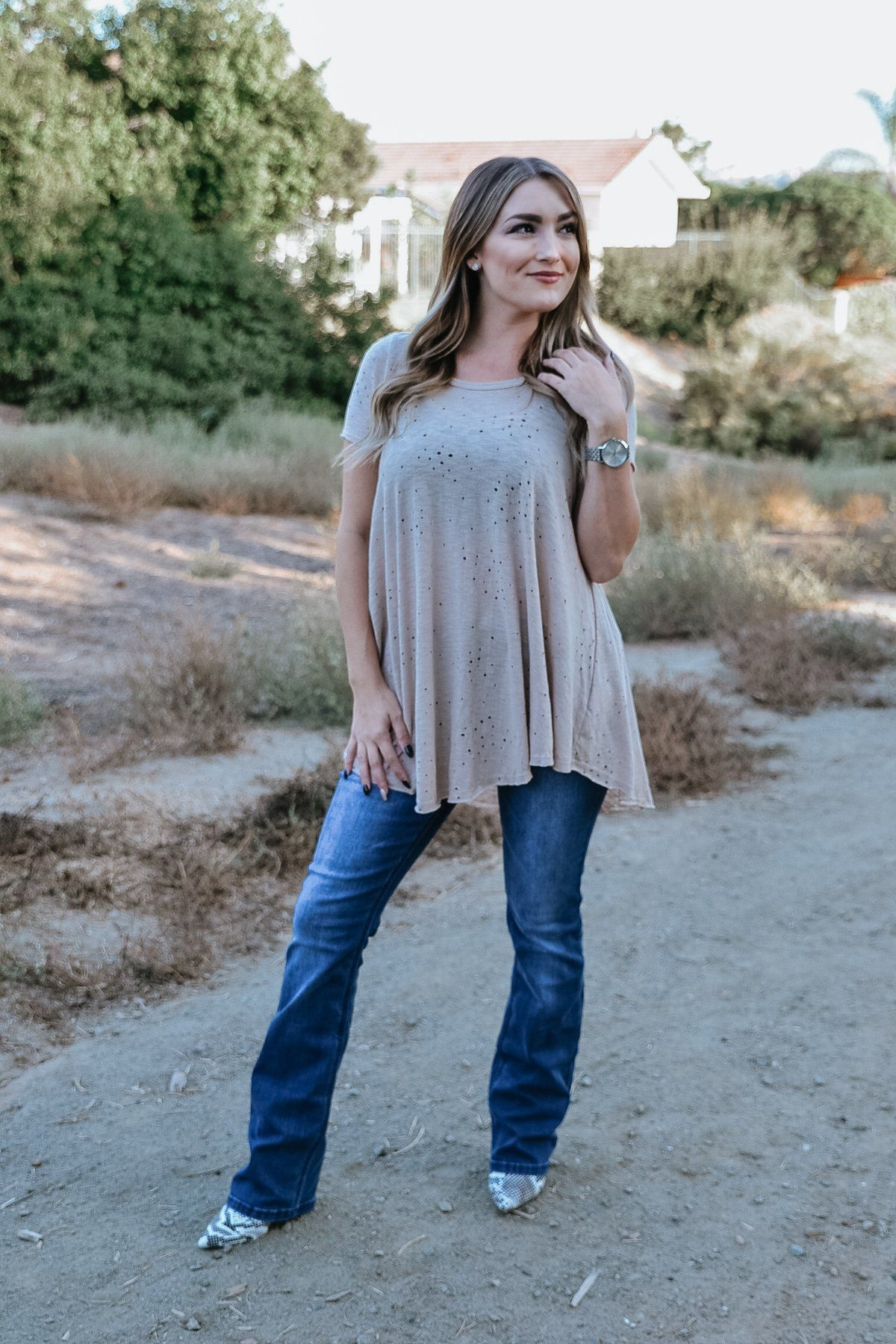 70bdde91c171f0 Edgy Distressed Top // Wild at Heart Boutique fall, fall style, fashion, fashion  trends, must have, outfit idea, blogger, holiday, sweater, cardigan, ...