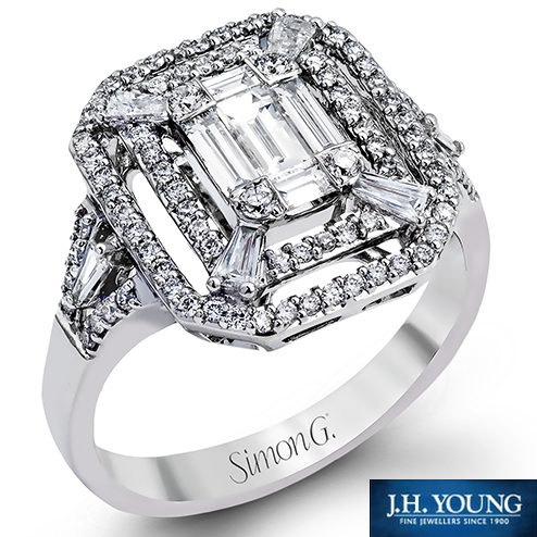 """Simon G. Engagement Ring Would you say """"yes?""""  #ring #wedding #bridal #engagement #jewelry #jhyoung #simong"""