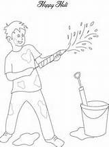 How To Draw Holi Festival Colouring Page My Little Guys