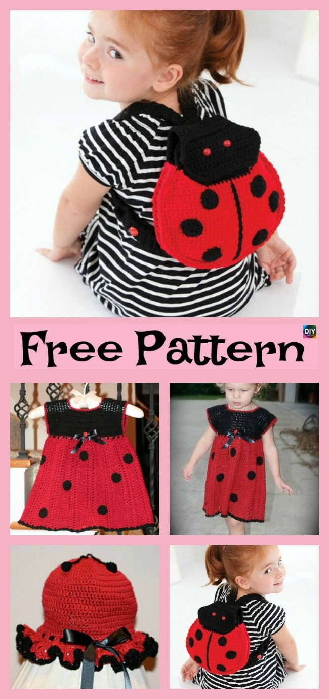 Adorable Crochet Lady Bug Project - Free Patterns | Pinterest ...
