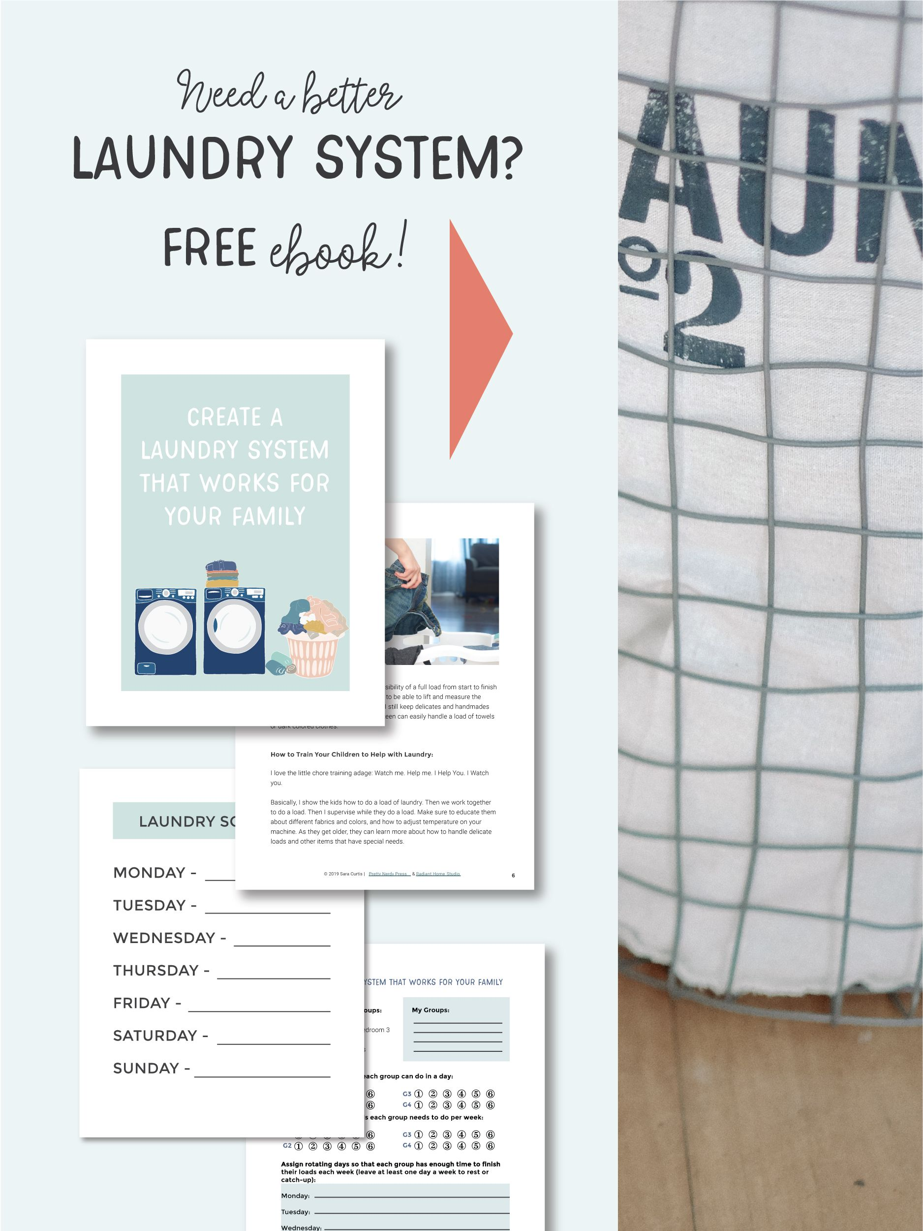 Create A Laundry System That Works For Your Big Family