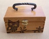 I love wooden and metal boxes, not crazy this one being a purse, but I love the owl design on a beautiful box.