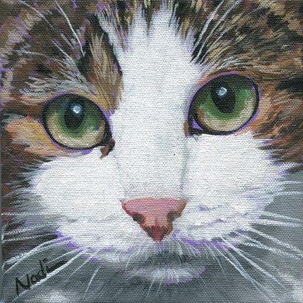 "Daily Paintworks - ""Cat Eyes 2"" - Original Fine Art for Sale - © Nadi Spencer"