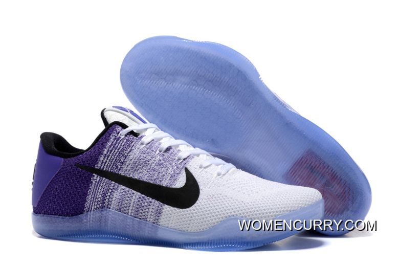 san francisco 66bad 036a2 Nike Kobe 11 White Purple Black Men s Basketball Shoes Super Deals, Price    88.79 - Women Stephen Curry Shoes Online