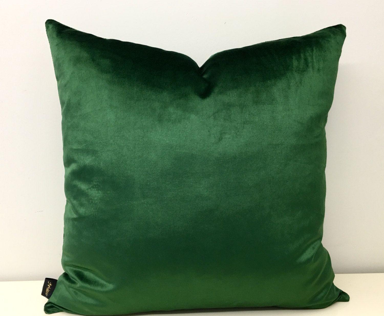 green velvet pillow. Green Velvet Pillow Cover, Pillows, Pillow, Cushion E