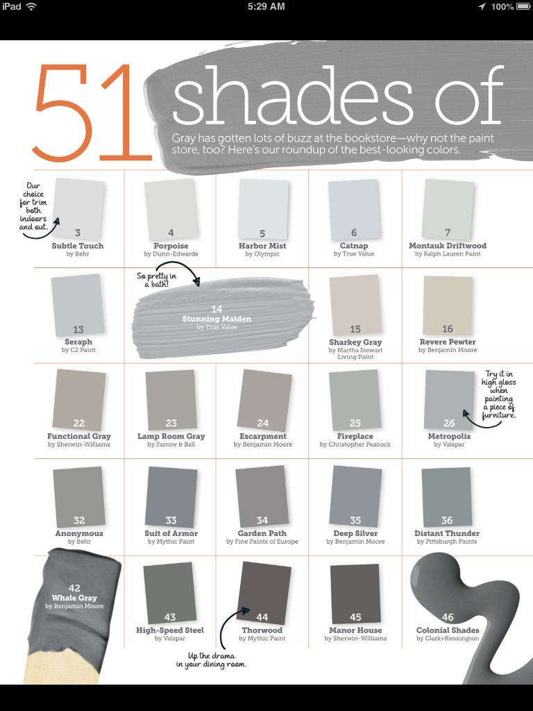51 shades of gray paint ~ color inspiration ~ LOL