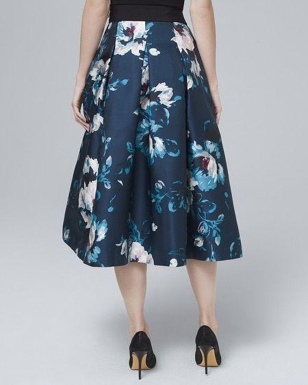 8ae8a2c322 Women's Floral-Print Full Midi Skirt by White House Black Market ...