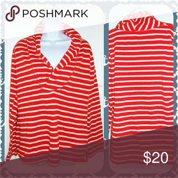 Red & White Striped Sweater | Ships