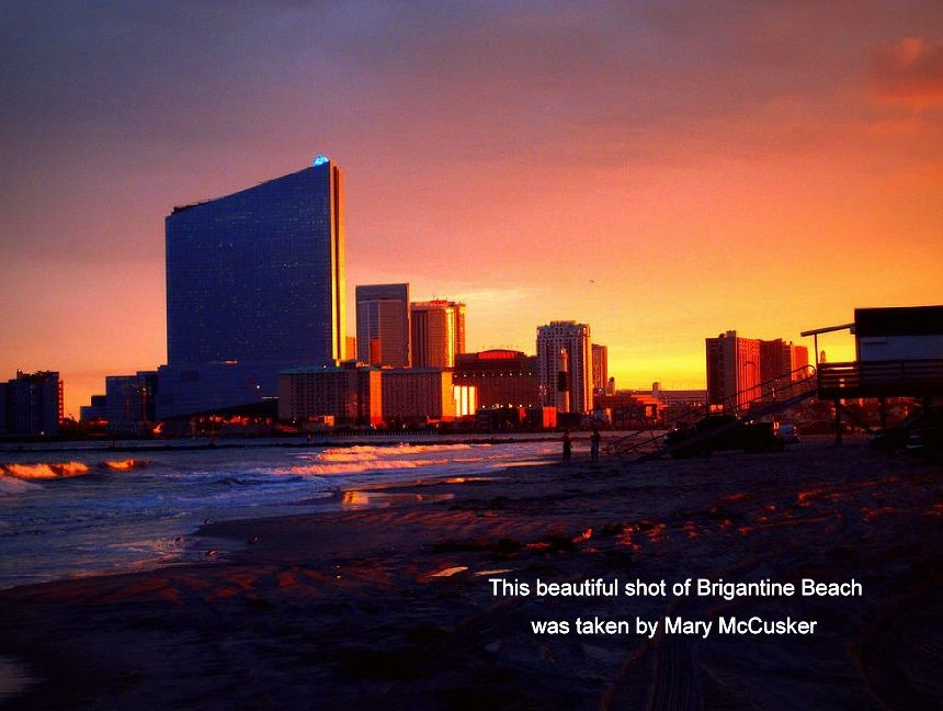 Stunning Shot Of The Atlantic City Skyline Brigantine Beach Atlantic City City Skyline
