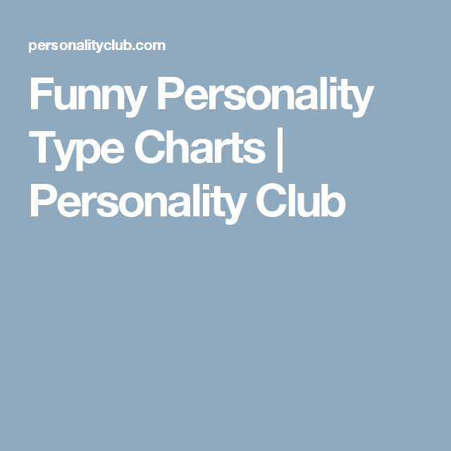 Pop Culture Personality Charts  Personality Chart Personality