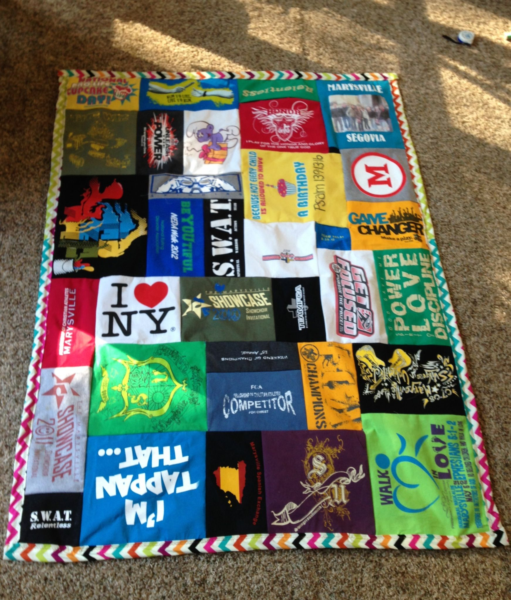 My Tshirt Quilt I Used The Tutorial From Www