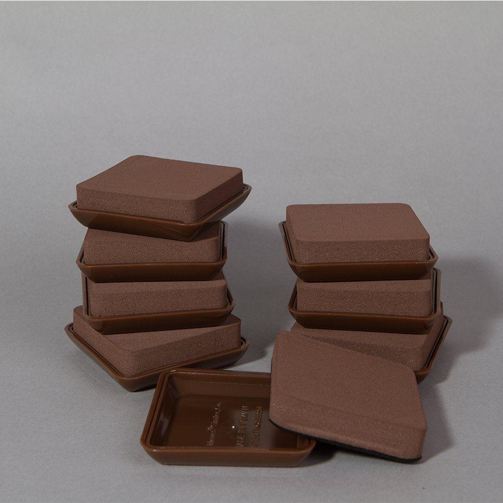 Photo of Permanent 2-In-1 Convertible Furniture Slides (Set of 8) – Dark Brown