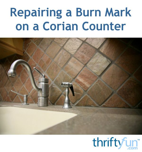 Repairing A Burn Mark On A Corian Counter Corian Burn Mark Corian Sink