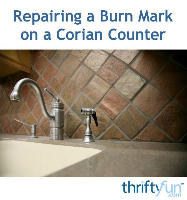 Repairing A Burn Mark On A Corian Counter Corian Burn Mark