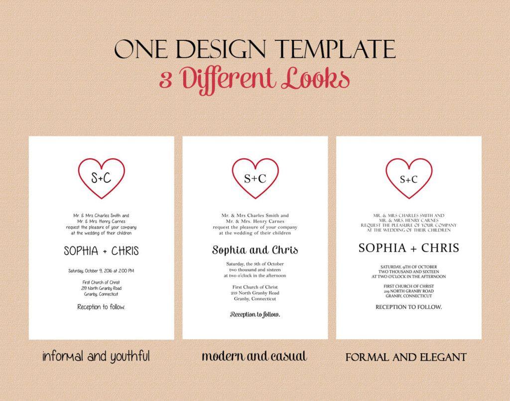 free pdf download wedding invitation template  text