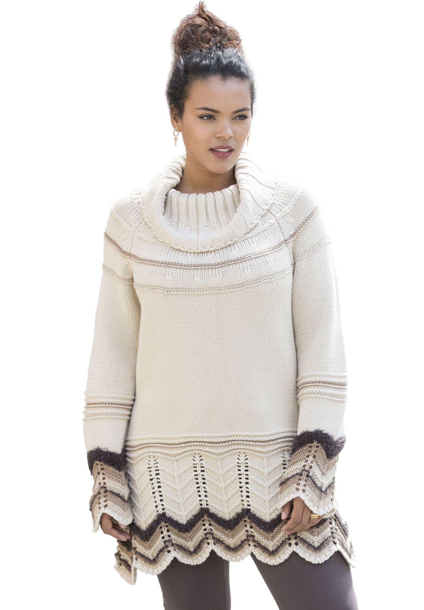 Plus Size Chevron Sweaters