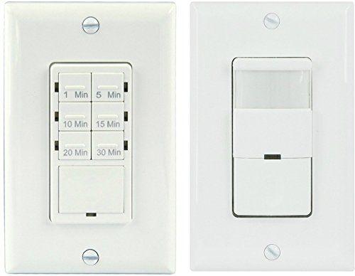 Topgreener Tdos5 Het06a Bathroom Fan Timer Switch And Light Sensor