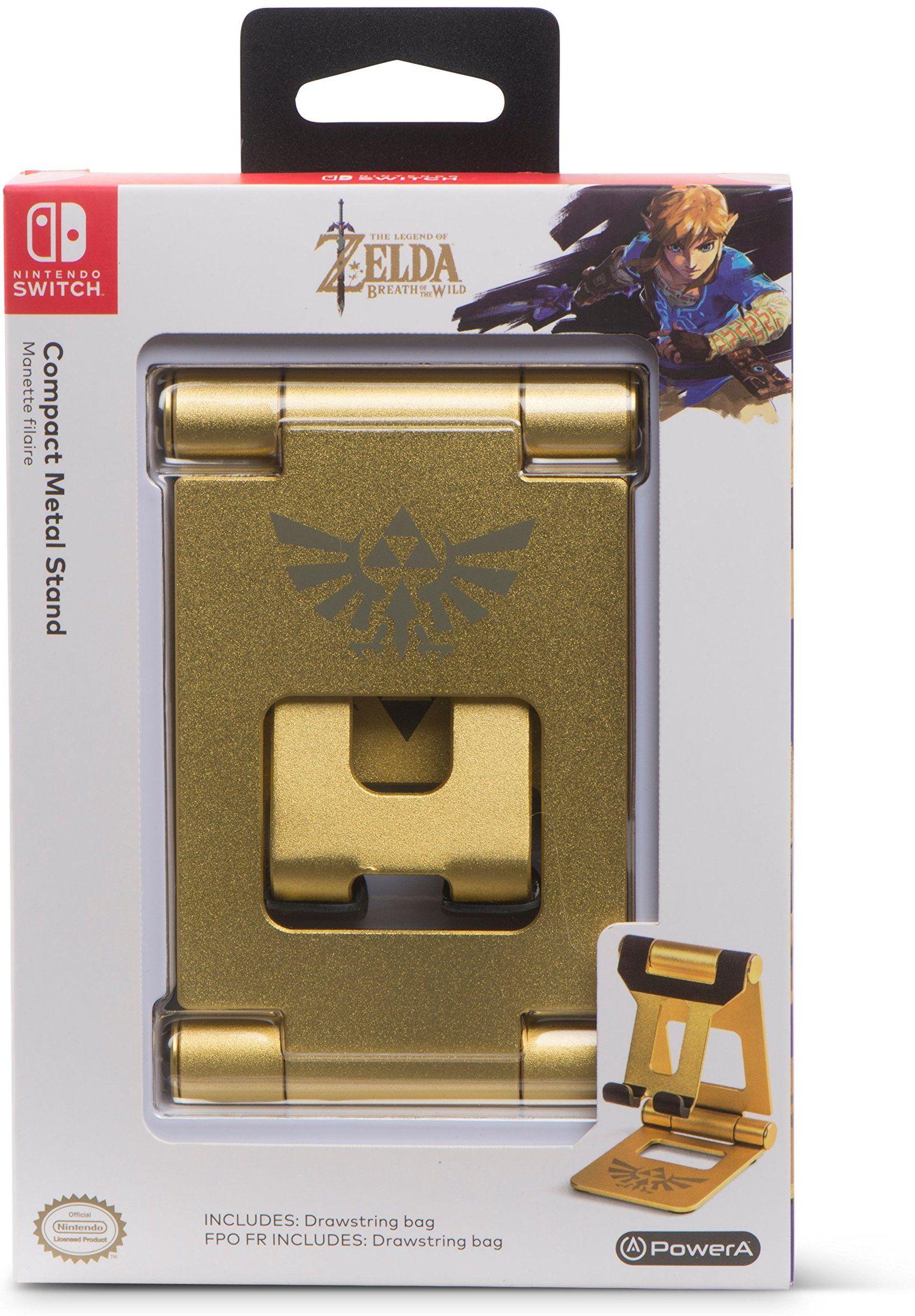 PowerA pact Metal Stand Zelda Breath of The Wild Gold Nintendo Switch
