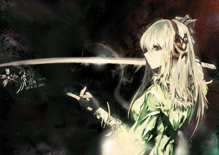Ghim Tren Anime Girl White Hair