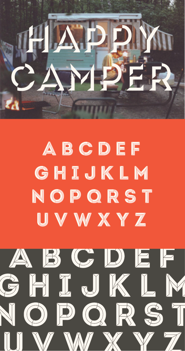 Free Camper Font From Camp