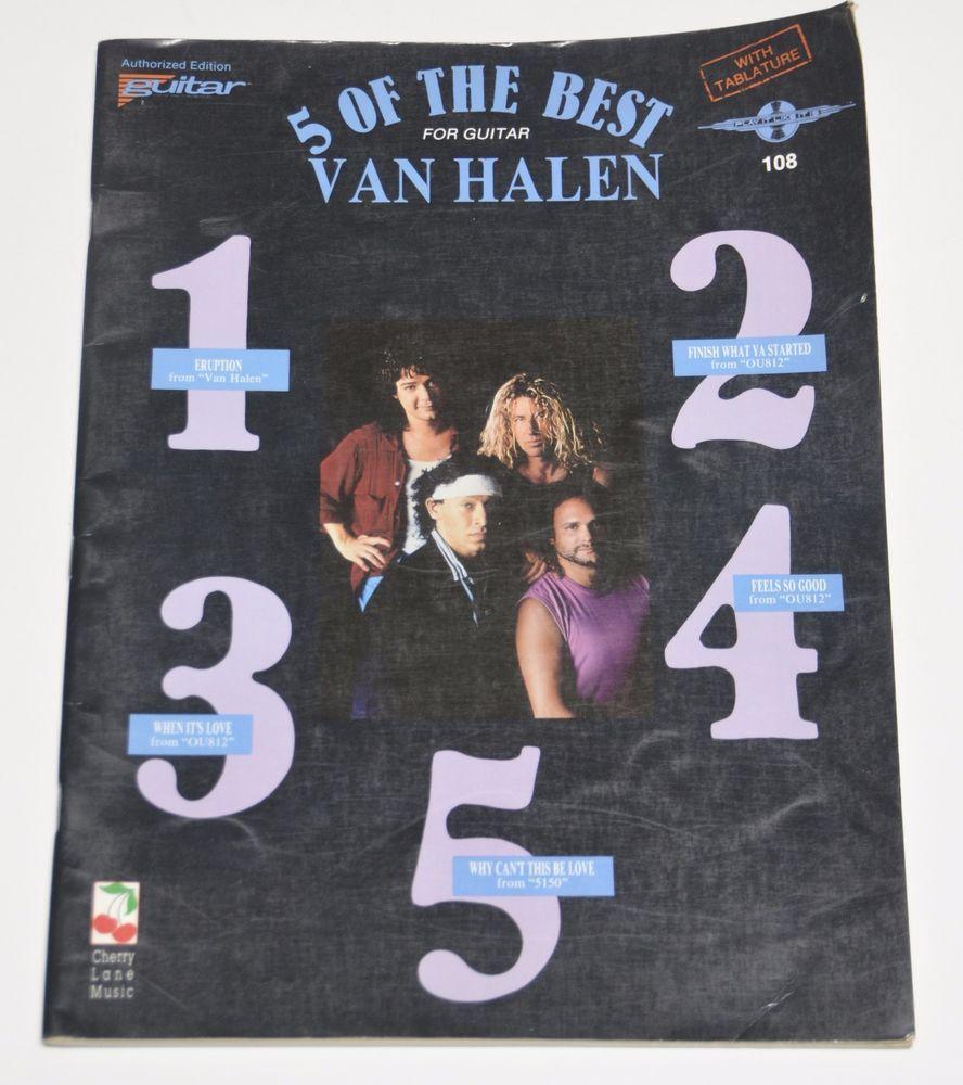 Van Halen 5 Of The Best For Guitar Songbook Guitar Tablature Vocal Sheet Music Cherrylanemusic Tablature Van Halen Halen