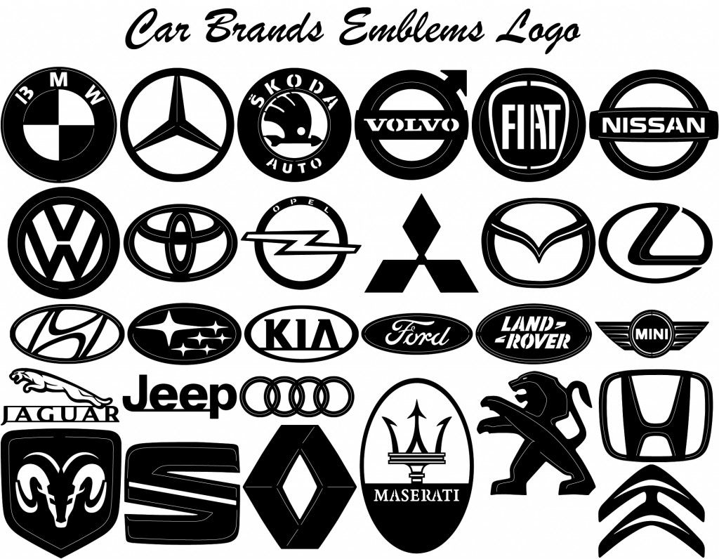 Car Brand Logo DXF Files Designs Silhouette Package