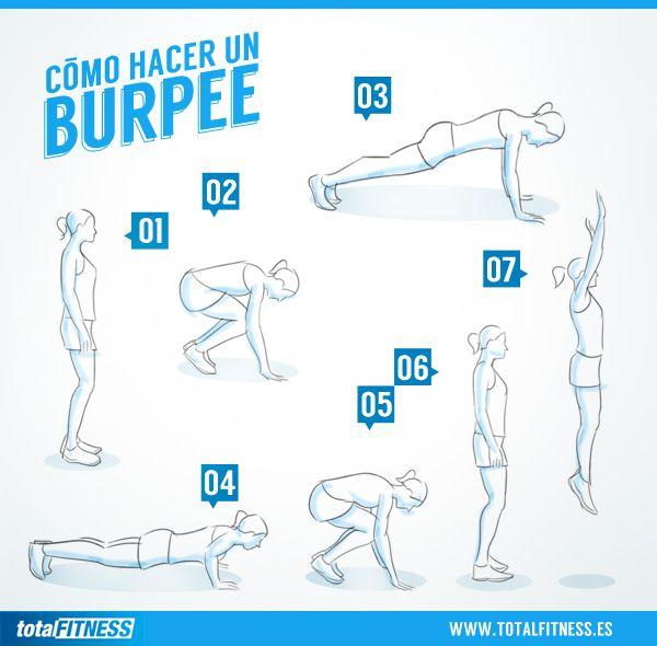 Cómo realizar un Burpee   Rutinas y ejercicios   Gym