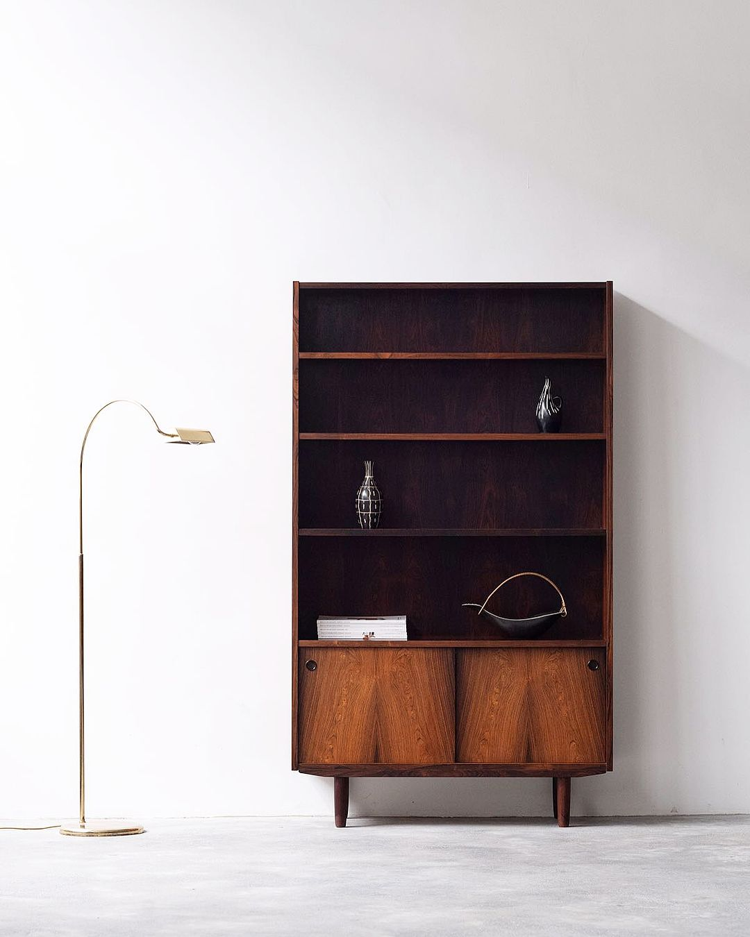 Beautiful Vintage Danish Bookshelf In Brazilian Rosewood Off To Her New Home This Morning Labeled