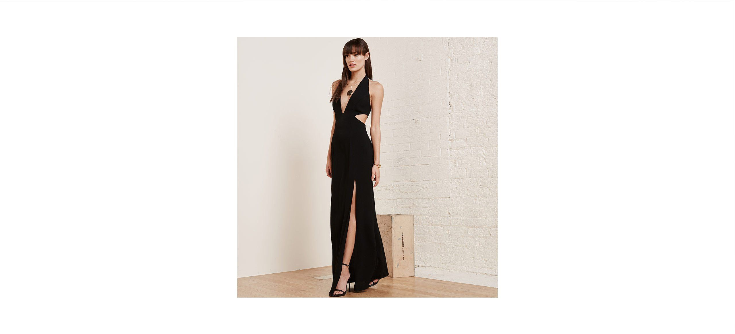 Marcia dress pinterest reformation side cuts and floor length