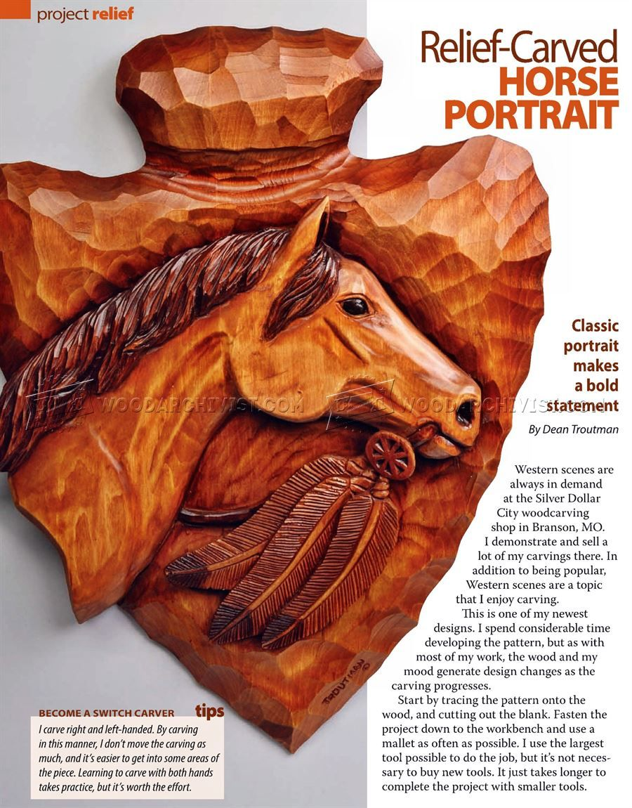 Horse portrait relief carving patterns wood