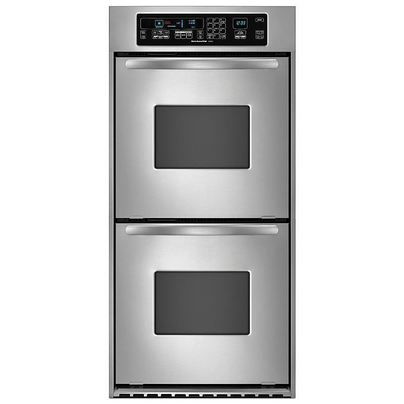 "KitchenAid - KEBC247VSS - Architect® 24"" Double Wall Oven ..."