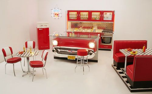 pin von andrea marks auf 50s diner kitchen 50er k che pinterest. Black Bedroom Furniture Sets. Home Design Ideas