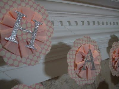 Happy Birthday banner with crepe paper, scrapbook paper, glitter paper and glue, so cute!