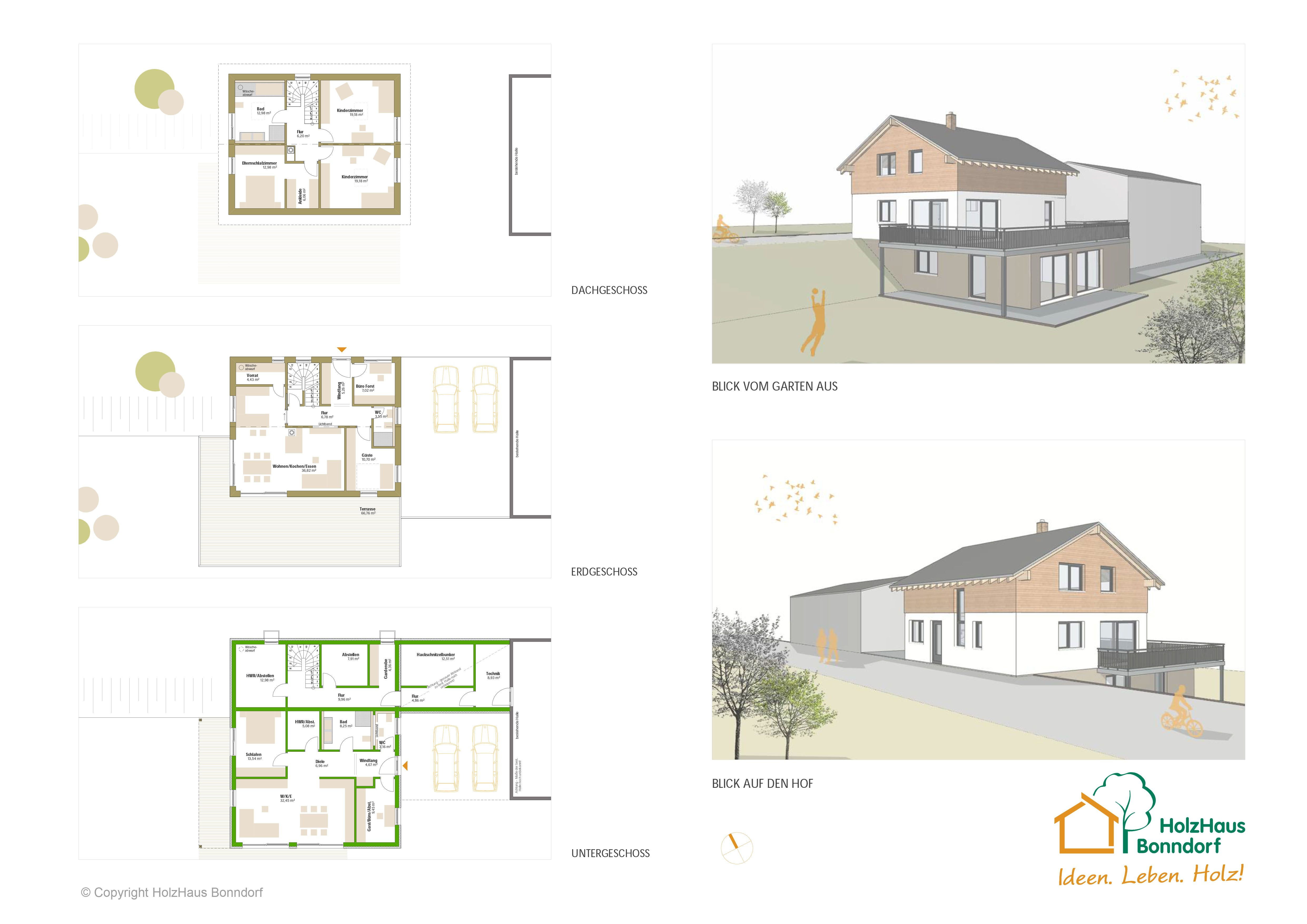 Einfamilienhaus mit garage und einliegerwohnung in for Grundriss einfamilienhaus 2 vollgeschosse