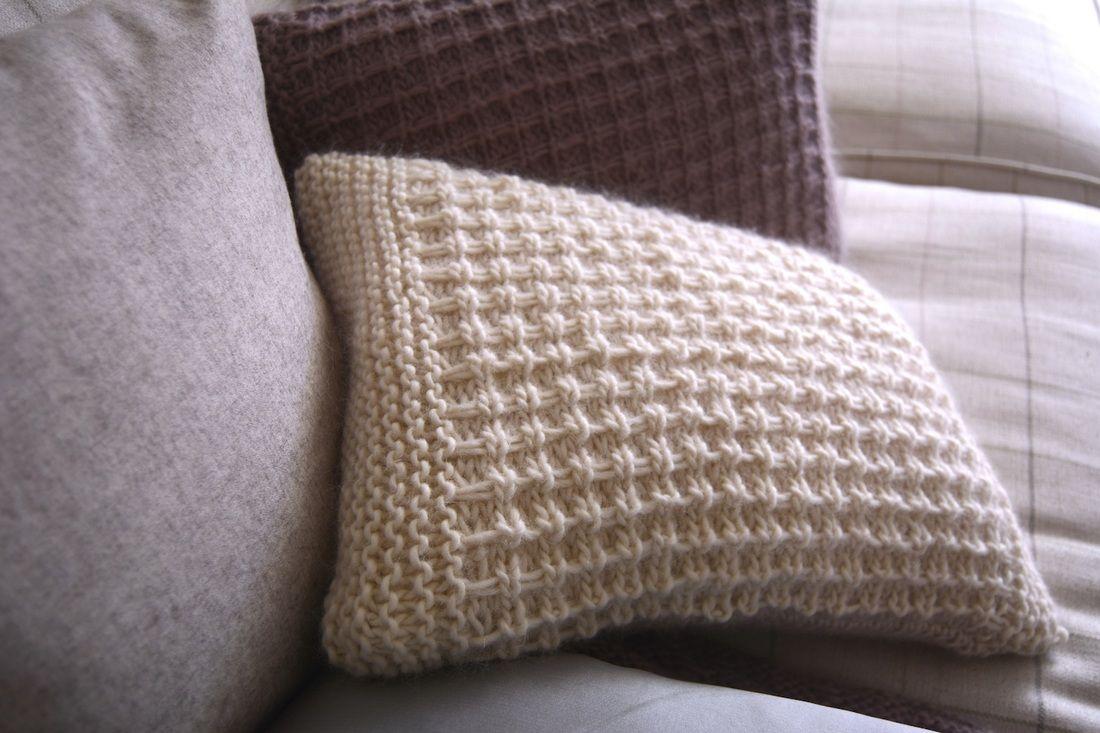 Free Cushion Knitting Pattern - www.libbysummers.co.uk ...