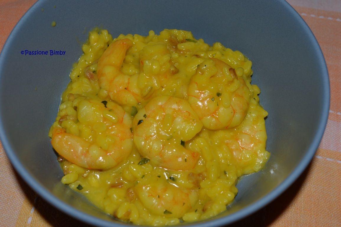 Risotto con gamberi zucchine e zafferano bimby for Primi piatti ricette bimby