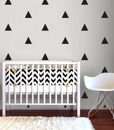 Wall Decal Triangles Wall Sticker Room Decor Triangle Wall