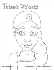 Cora Coloring Sheet (Free Download) on Talee's World
