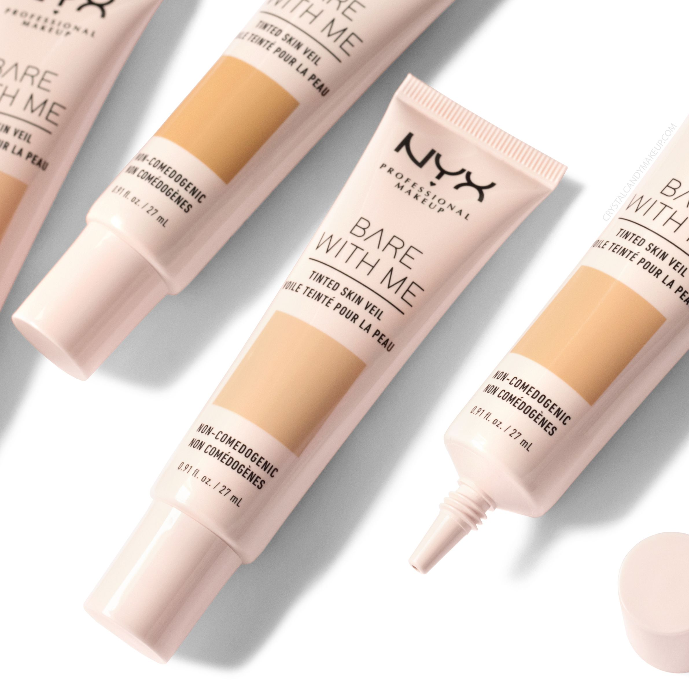 Nyx S New Bare With Me Tinted Skin Veil Review Swatches Before After Photos And Mac Foundat Foundation Shades Nyx Professional Makeup Mac Foundation Shades