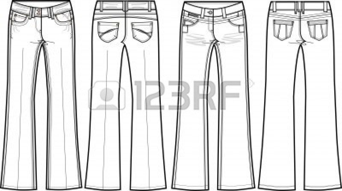 30+ Pants Black And White Clipart