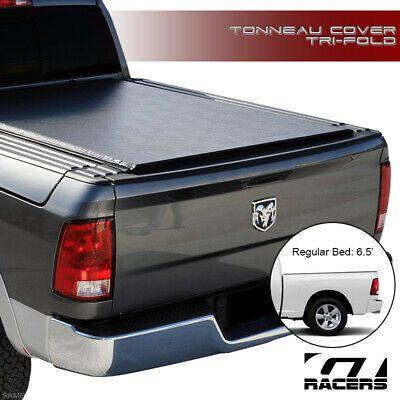 For 2009-2019 Dodge Ram 1500//2500//3500 6.4//6.5/' Bed Tri-Fold Soft Tonneau Cover